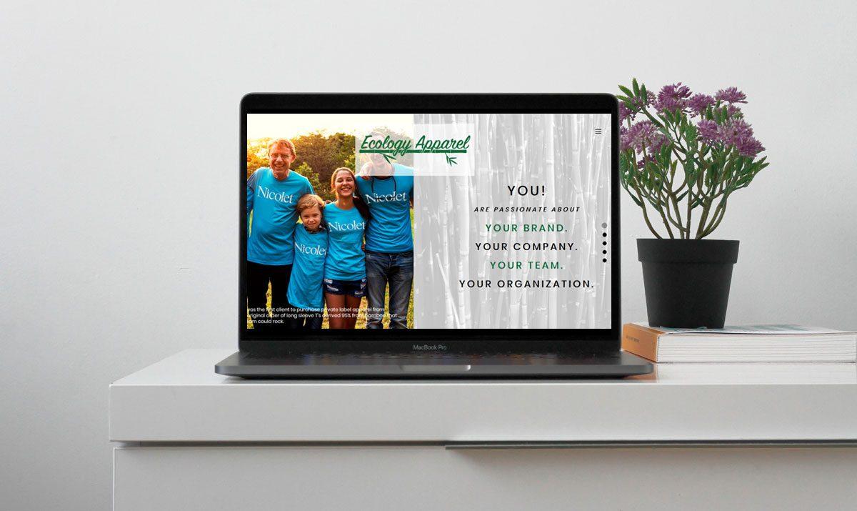 Ecology Apparel - Website Deveopment